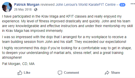 5, John Leroux's World KarateFIT Centre in Ottawa, Ontario